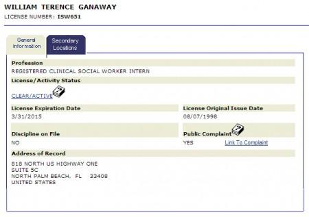 terry ganaway license